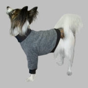 Italian Greyhound Fleece Sweater - Smoke Tweed