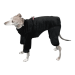Italian Greyhound Rich Black Windblock Fleece Bodysuit