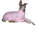 Italian Greyhound Fleece Jammies - Soft Pink