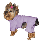 Toy & Teacup Fleece Jammies - Lavender