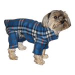 Toy and Teacup Blue Plaid Indoor/Outdoor Bodysuit