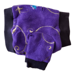 Toy & Teacup Embroidered Fleece Sweater- Violet