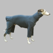 Whippet Heavy Fleece Bodysuit - Heather Slate