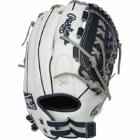 12.5 Inch Rawlings Liberty Advanced Color Series RLA125-18N Women's White/Navy Fastpitch Softball Glove