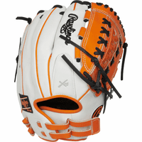 12.5 Inch Rawlings Liberty Advanced Color Series RLA125-18OB Women's White/Orange/Black Fastpitch Softball Glove
