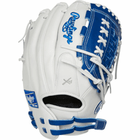 12.5 Inch Rawlings Liberty Advanced Color Series RLA125-18R Women's White/Royal Fastpitch Softball Glove