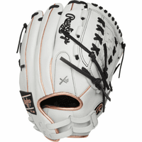 12.5 Inch Rawlings Liberty Advanced Color Series RLA125-18RG Women's White/RoseGold/Black Fastpitch Softball Glove