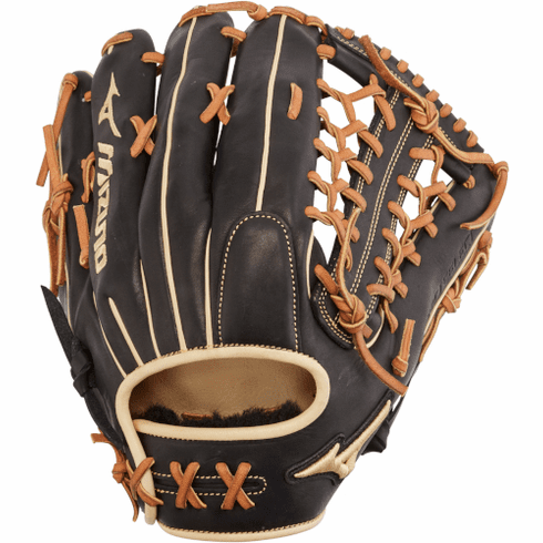 12.75 Inch Mizuno Pro Select GPS1BK-700DS Adult Outfield Baseball Glove 312678
