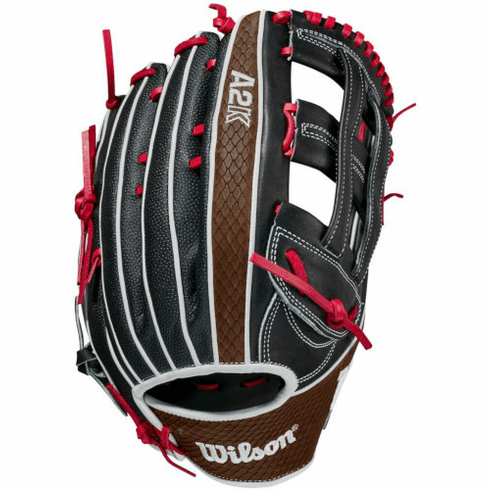 12.75 Inch Wilson A2K SuperSkin 1799SS Adult Outfield Baseball Glove WBW1000691275