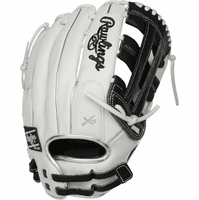 13 Inch Rawlings Liberty Advanced Color Series RLA130-6BP Women's White/Black/Platinum Fastpitch Softball Glove