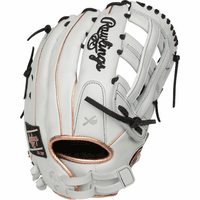 13 Inch Rawlings Liberty Advanced Color Series RLA130-6RG Women's White/RoseGold/Black Fastpitch Softball Glove