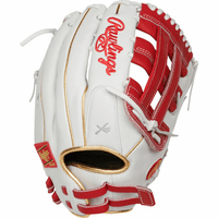 13 Inch Rawlings Liberty Advanced Color Series RLA130-6S Women's White/Scarlet/Gold Fastpitch Softball Glove