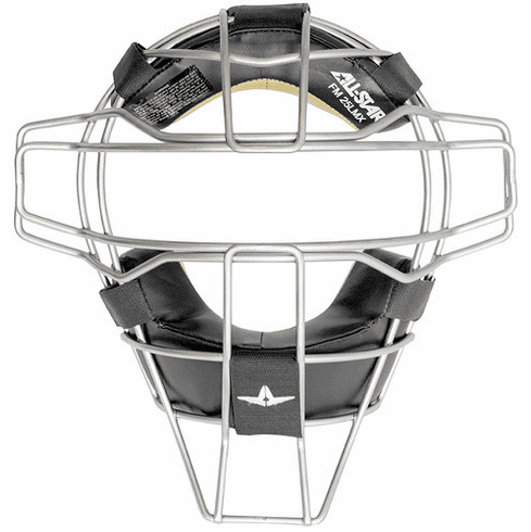 All-Star Umpire Protective FM25TIUMPLMX Traditional Titanium Facemask with LMX Padding