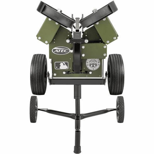 ATEC M3X Professional WTATMM3BCX Baseball Offensive and Defensive Pitching Machine on Caddypod - Free Shipping!