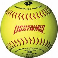 DeMarini Lightning - WTALL11-YAB - 11 Inch Slowpitch Leather Softball - ASA Approved