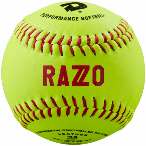 DeMarini Razzo WTDRZOL11AB 11 Inch ASA Leather Slowpitch Softball