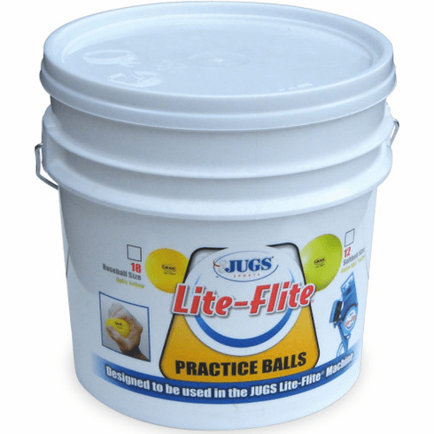 JUGS B5006 Bucket of Lite-Flite 12 Inch Optic Yellow Softballs