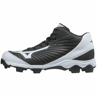 Mizuno Franchise 9 320552 Youth 9-Spike Molded Mid Baseball Cleat