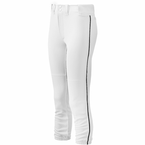 Mizuno Select Girl's Fastpitch Softball Belted Piped Pants 350963