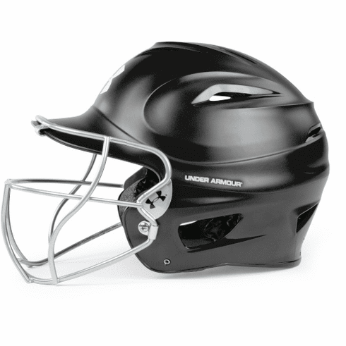 Under Armour Adult Matte Molded Batting Helmet w/ Fastpitch Softball Facemask UABH100MM-FGS2