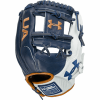 Under Armour Genuine Pro 2.0 11.5 Inch Navy/White/Caramel Adult Infield Baseball Glove UAFGGP2-1150I