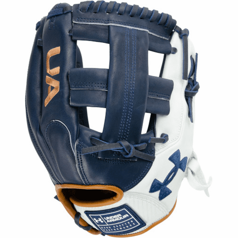Under Armour Genuine Pro 2.0 11.75 Inch Navy/White/Caramel Adult Infield Baseball Glove UAFGGP2-1175SP