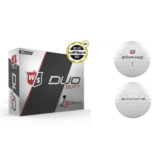 Wilson Staff Duo Soft 6 Dozen White Golf Balls - Free Shipping!
