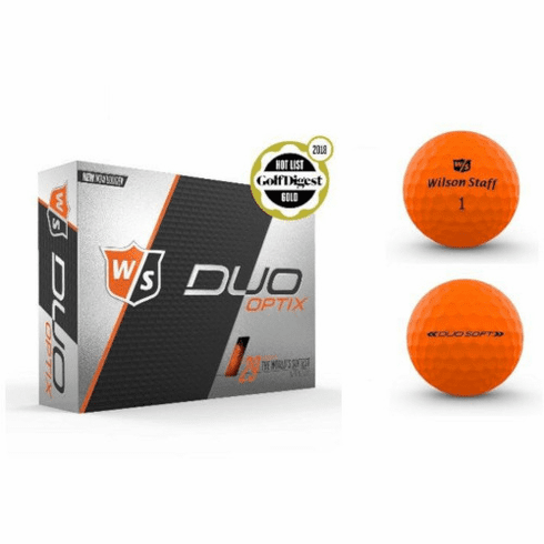 Wilson Staff Duo Soft Optix 2 Dozen Harvest Moon Orange Golf Balls - Free Shipping!
