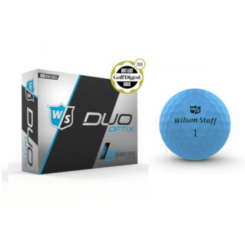 Wilson Staff Duo Soft Optix 6 Dozen Breakneck Blue Golf Balls - Free Shipping!