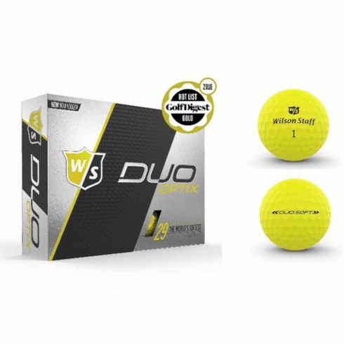 Wilson Staff Duo Soft Optix One Dozen Electric Glow Yellow Golf Balls - Free Shipping!