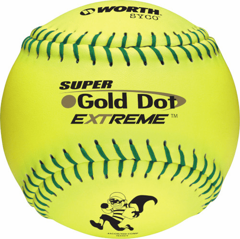 Worth Gold Dot Extreme IS44CY 12 Inch ISA Slowpitch Softball