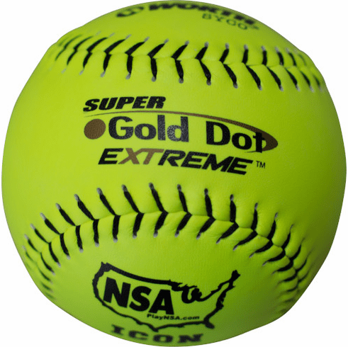 Worth Gold Dot Extreme NI12CY 12 Inch NSA Slowpitch Softball