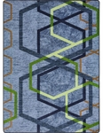 First Take Double Helix Home Theater Area Rug