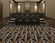 Geometric Home Theater Carpet