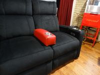 HT Design Portable Armrest for Loveseat & Couch Configs Red Leather