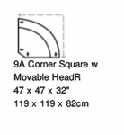 Paliser Keoni Corner Square w/Moveable Headrest