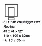 Paliser Keoni Wall Hugger Power Recliner w/Power Headrest