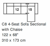 Palliser Colebrook Sectional Configuration C8