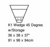 Palliser Keiran 45 Degree Storage Wedge w/LED Cupholder Option