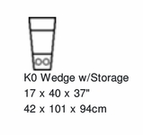 Palliser Keiran Storage Wedge w/LED Cupholder Option