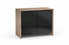 Salamander Designs Barcelona 323 Walnut/Black Pro Audio Rack Twin Cabinet