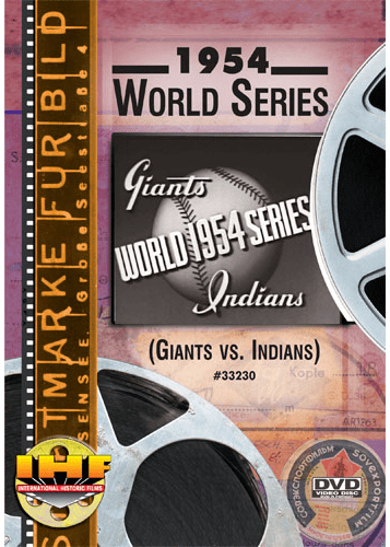 1954 World Series DVD (New York Giants vs Cleveland Indians)