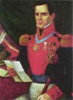 * General Santa Anna: victor at the Alamo, President of Mexico, helped invent chewing gum