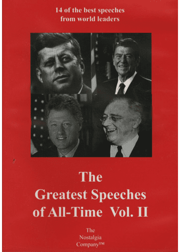 Greatest Speeches Of All Time Vol.2 DVD