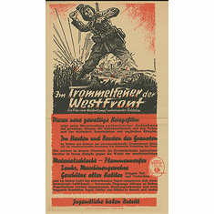 Im Trommelfeuer der Westfront Newspaper Ad English Translation Excerpt