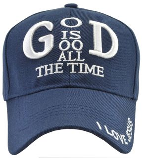 God Is Good All The Time Blue Hat - Click to enlarge