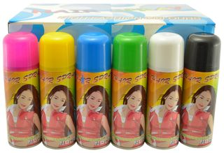 Temporary Color Hair Spray 3 oz (24 Cans) - Click to enlarge