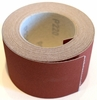 3 Inch 10 Yard Red Paper Drum Sander Rolls (Hook & Loop Backing)