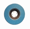 "4 1/2"" x 7/8"" High Density Zirconia Flap Discs, 120 Grit (Fine), Type 27 (Flat) Pack of 10."