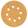 "5"" 8-Hole GoldStar Hook & Loop Sanding Discs, P80 Grit, Box of 50."